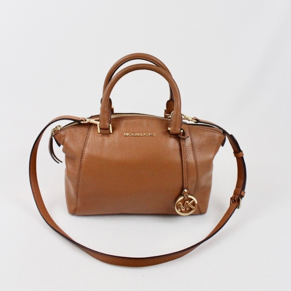 Michael Kors Riley Medium Leather Satchel Acorn. M 5b4942b81b329462535c3969 4a99330e0b6